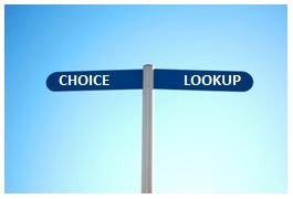 Choice or Lookup