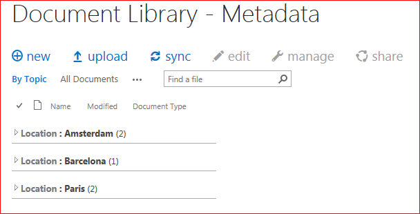 Grouping shows you immediately how many documents are in a certain category.