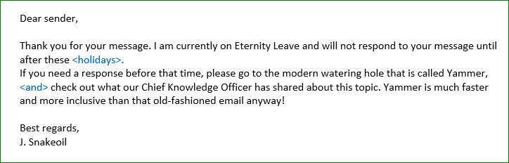 Treasure Hunt Email