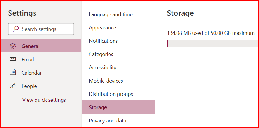 CleanOutlook-storage