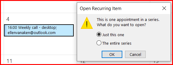 outlook recurring meeting 1